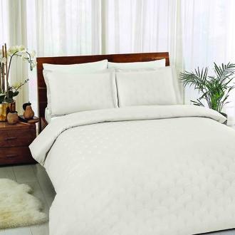 Комплект постельного белья TAC LUX CROSS хлопковый жаккард (кремовый)