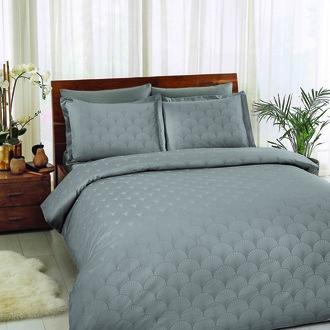 Комплект постельного белья TAC LUX CROSS хлопковый жаккард (серый)