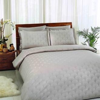 Комплект постельного белья TAC LUX CROSS хлопковый сатин-жаккард делюкс (визон)