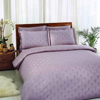 Комплект постельного белья TAC LUX CROSS хлопковый жаккард (лиловый)