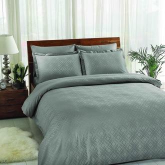 Комплект постельного белья TAC LUX VISION хлопковый жаккард (серый)