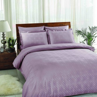 Комплект постельного белья TAC LUX VISION хлопковый жаккард (лиловый)