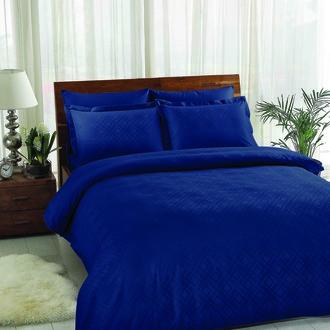 Комплект постельного белья TAC LUX VISION хлопковый жаккард (синий)