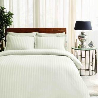 Комплект постельного белья TAC LUX NOBLE хлопковый жаккард (кремовый)