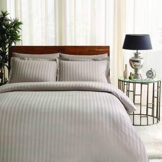 Комплект постельного белья TAC LUX NOBLE хлопковый жаккард (визон)