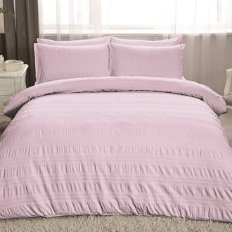 Комплект постельного белья TAC LUX MISSE хлопковый сатин-жаккард делюкс (лиловый)