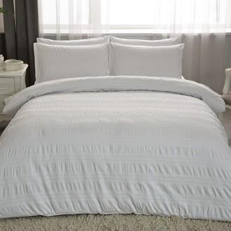 Комплект постельного белья TAC LUX MISSE хлопковый жаккард (белый)