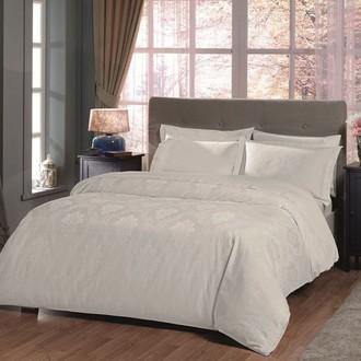 Комплект постельного белья TAC LUX VIOLETTE хлопковый жаккард (белый)