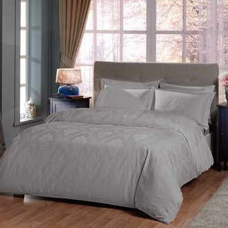 Комплект постельного белья TAC LUX VIOLETTE хлопковый жаккард (бежевый)