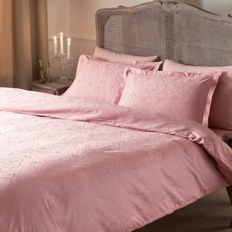 Комплект постельного белья TAC LUX GARDENIA хлопковый сатин-жаккард делюкс (розовый)