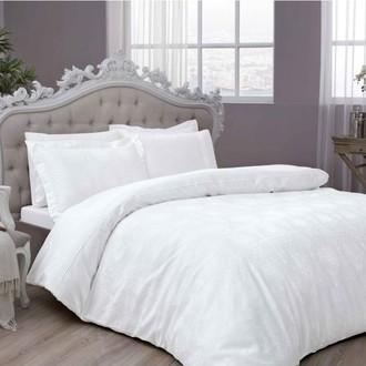 Комплект постельного белья TAC LUX DIANA хлопковый сатин-жаккард делюкс ПВХ (белый)