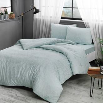 Комплект постельного белья TAC HAPPY DAYS VALONIA хлопковый ранфорс (ментол)
