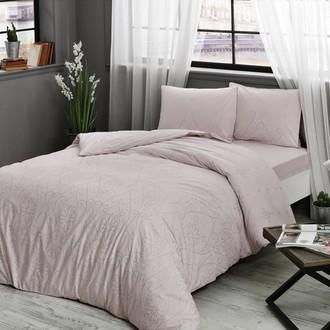 Комплект постельного белья TAC HAPPY DAYS VALONIA хлопковый ранфорс (пудра)