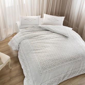 Комплект постельного белья TAC HAPPY DAYS BELISMA хлопковый сатин (визон)