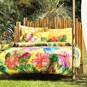 Постельное белье TAC BAMBOO LEMON бамбуковый сатин deluxe жёлтый евро