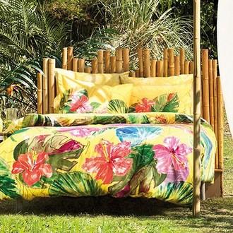 Комплект постельного белья TAC BAMBOO LEMON бамбуковый сатин deluxe (жёлтый)