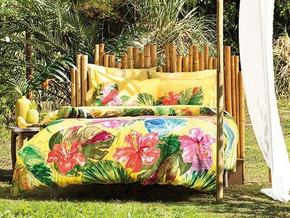 Комплект постельного белья TAC BAMBOO LEMON бамбуковый сатин deluxe (жёлтый) евро, фото, фотография