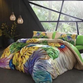 Комплект постельного белья TAC BAMBOO HAVANA бамбуковый сатин deluxe (зелёный)