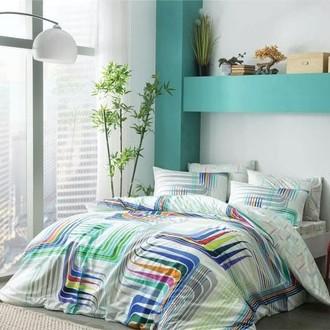 Комплект постельного белья TAC BAMBOO ILLUSION бамбуковый сатин deluxe (голубой)