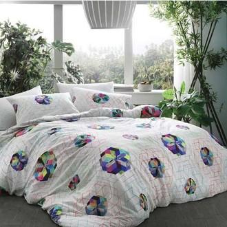 Комплект постельного белья TAC BAMBOO RAINBOW бамбуковый сатин deluxe (голубой)