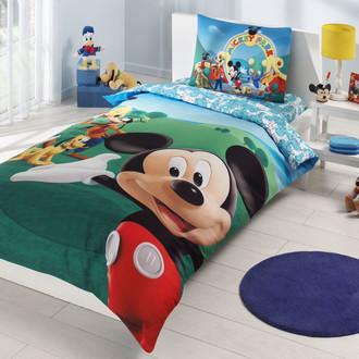 Комплект детского постельного белья TAC MICKEY MOUSE CLUB хлопковый ранфорс