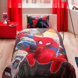 Комплект детского постельного белья TAC SUPERMAN IN CITY хлопковый ранфорс