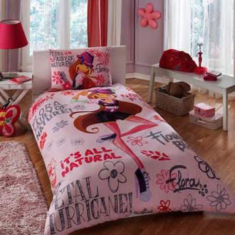 Комплект детского постельного белья TAC WINX HOLIDAY FLORA хлопковый ранфорс