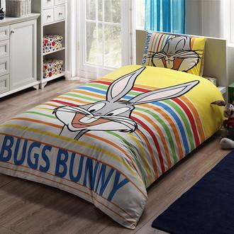 Комплект детского постельного белья TAC BUGS BUNNY STRIPED хлопковый ранфорс