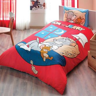 Комплект детского постельного белья TAC TOM & JERRY GOOD NIGHT хлопковый ранфорс
