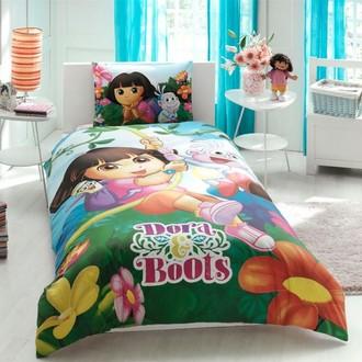 Комплект детского постельного белья TAC DORA & BOOTS хлопковый ранфорс
