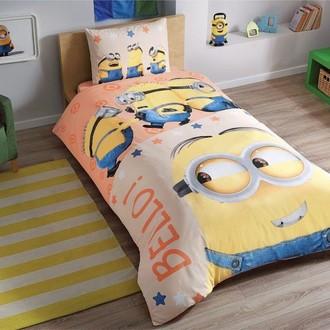 Комплект детского постельного белья TAC MINIONS BELLO хлопковый ранфорс