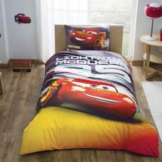 Комплект детского постельного белья TAC CARS LIGHTNING хлопковый ранфорс