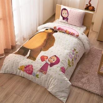 Детское постельное белье TAC MASHA AND THE BEAR хлопковый ранфорс