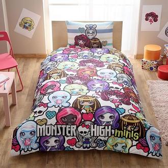 Комплект детского постельного белья TAC MONSTER HIGH MINIS хлопковый ранфорс