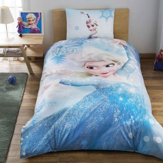 Комплект детского постельного белья TAC FROZEN GLITTER хлопковый ранфорс