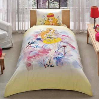 Комплект детского постельного белья TAC WINX STELLA WATERCOLOR хлопковый ранфорс