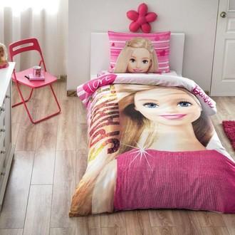 Комплект детского постельного белья TAC BARBIE SPARKLE хлопковый ранфорс