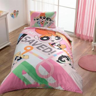Комплект детского постельного белья TAC POWERPUFF GIRLS хлопковый ранфорс