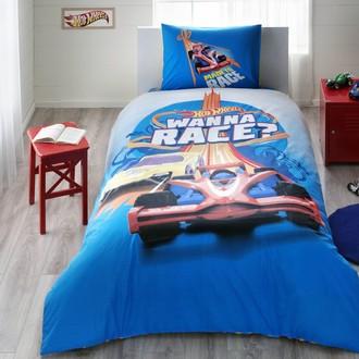 Комплект детского постельного белья TAC HOT WHEELS RACE хлопковый ранфорс