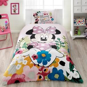 Детское постельное белье TAC MINNIE GLITTER хлопковый ранфорс 1,5 спальный