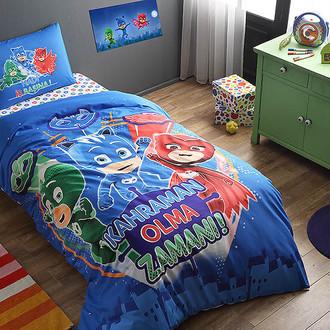 Комплект детского постельного белья TAC PJ MASKS хлопковый ранфорс