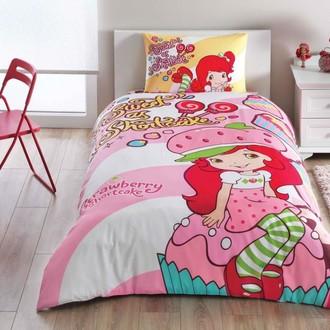 Комплект детского постельного белья TAC STRAWBERRY SHORTCAKE CUTE хлопковый ранфорс