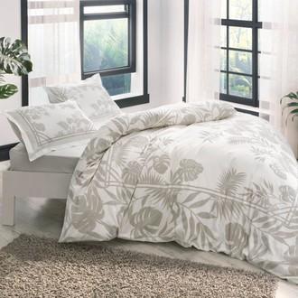 Комплект постельного белья TAC HAPPY DAYS LUANA хлопковый сатин (бежевый)
