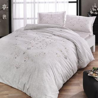 Комплект постельного белья TAC HAPPY DAYS SAFARA хлопковый сатин (кремово-золотистый)