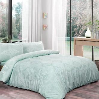 Комплект постельного белья TAC HAPPY DAYS BLANCE хлопковый ранфорс (ментол)