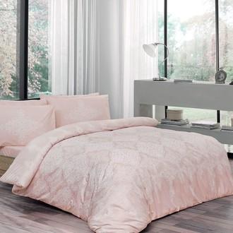 Комплект постельного белья TAC HAPPY DAYS BLANCE хлопковый ранфорс (пудра)