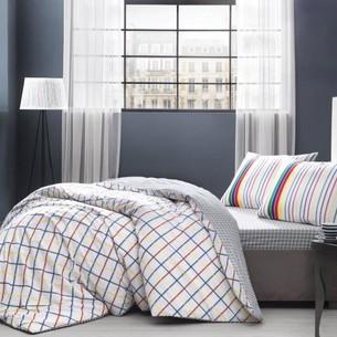Комплект подросткового постельного белья TAC JINA хлопковый ранфорс евро