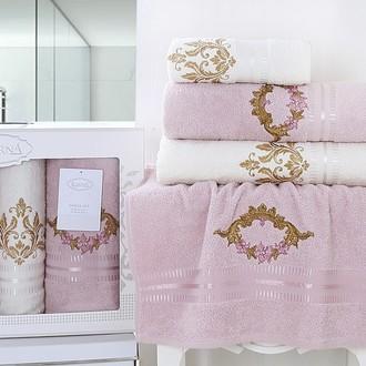 Подарочный набор полотенец для ванной Karna KAREN хлопковая махра 50*90(2), 70*140(2) (светло-сиреневый)