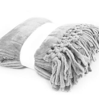 Плед Tivolyo Home NAPPA SOFT микрофибра (серый)