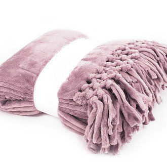 Плед Tivolyo Home NAPPA SOFT микрофибра (грязно-розовый)